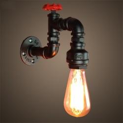 Amerikanische industrielle Rohr - Eisenwandlampe