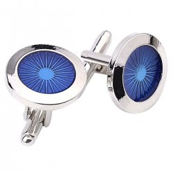 Round blue eyes - cufflinks