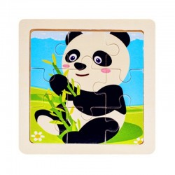 Wooden 3D puzzle - educational toy 11 * 11cm