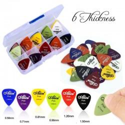 Electric guitar picks - 0.58mm 0.71mm 0.81mm 0.96mm 1.20mm 1.50mm - 50 pieces set