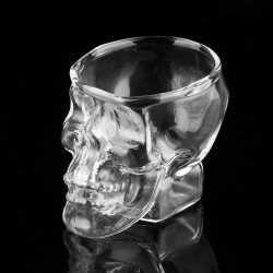 Skull head - borrelglas - 80 ml