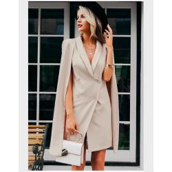 Vintage cloak blazer - sleeveless dress