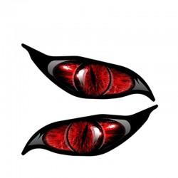 Rode zombie ogen - vinyl auto sticker 13 * 5 cm 2 stuks