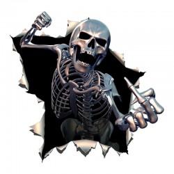 Angry skeleton - vinyl car sticker 15 * 15cm
