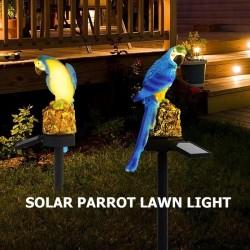 Solar powered LED parrot - garden light
