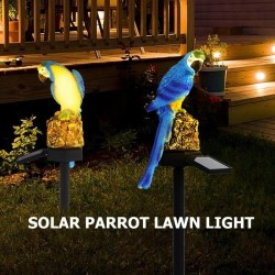 Solar powered LED parrot - garden light
