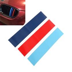 Fibre de carbone 3D pour grill BMW - autocollant 25 * 5cm