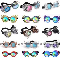 Steampunk & gothic glasses with rivets - vintage goggles