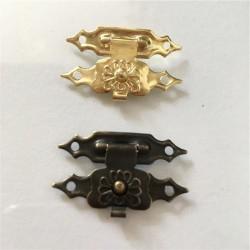 Antique iron - furniture padlock hasp - lock 30 * 18mm 10 pieces