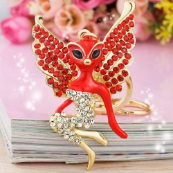 Crystal catwoman with wings - keychain
