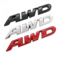 3D AWD - autocollant de voiture - chrome