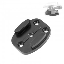 CNC aluminum flat buckle mount - quick release - for GoPro