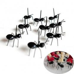 Fourchette en forme de fourmi pour fruits et snacks - desserts 12 pièces