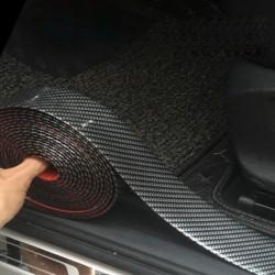 Bande autocollante de voiture en fibre de carbone 5D - protecteur de seuil de porte