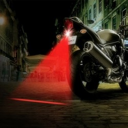 Motorfiets laser mistlamp - achterlicht