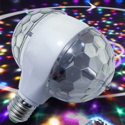 6W E27 RGB - rotating bulb with dual head - stage & disco lamp