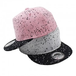 Children's baseball hat with printed dots