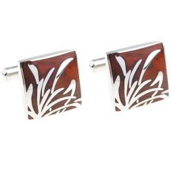 Elegant square rosewood cufflinks