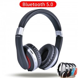 Casque sans fil MH7 - Casque Bluetooth - Pliable - Microphone - Carte TF