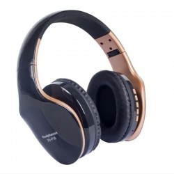 Wireless Bluetooth headphones - noise cancelling - foldable - stereo bass - adjustable earphones with microphone