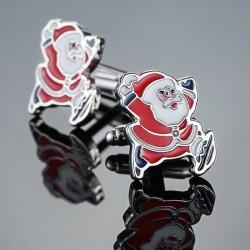 Manschettenknöpfe mit Santa Claus