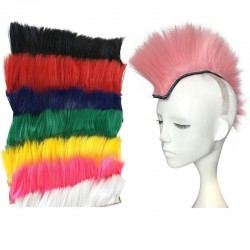 Punk style hair for motorcycle & ski helmets