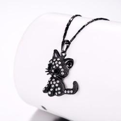 Crystal kitten - elegant necklace