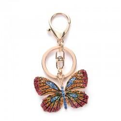 Papillon en cristal - porte-clés