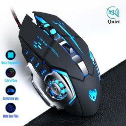 8D 3200DPI - adjustable - wired optical gaming mouse - LED - USB