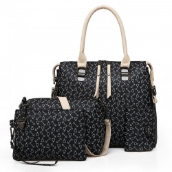 Fashionable leather bag - 4 pieces set