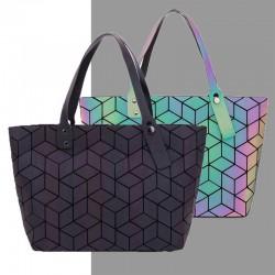 Geometry totes sequins - effet miroir - sac lumineux