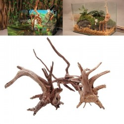 Natural tree trunk driftwood - aquarium & fish tank plant - wooden decoration