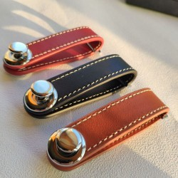 Key holder organiser - pouch - leather keychain