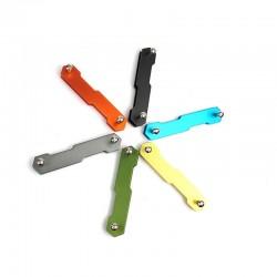 Aluminum keychain - keys holder - clip