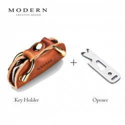 Modern - smart key wallet - keys organizer holder - genuine leather